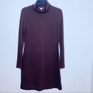 BOSTON PROPER Turtleneck Long Sleeve Sheath Dress